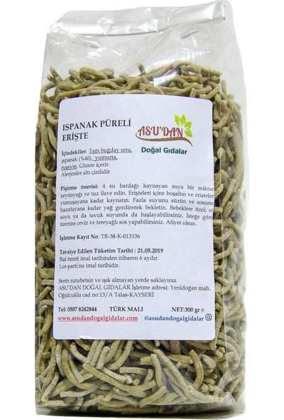 Asudan Doğal Gıdalar Ispanaklı Erişte 300gr