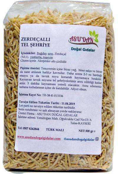 Asudan Doğal Gıdalar Zerdeçallı Tel Şehriye 300gr