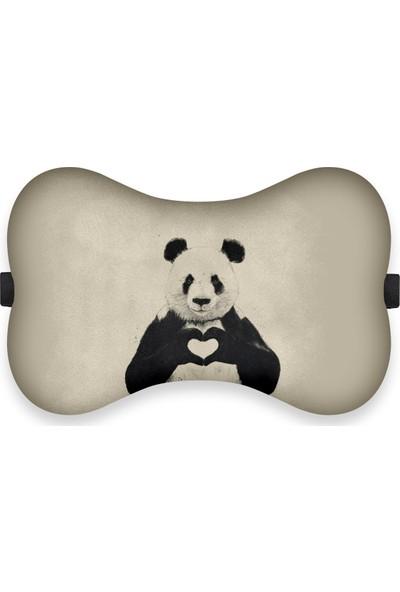 Olunca Panda Love Tasarım Boyun Yastığı