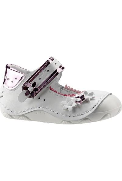 Teo Bebe 4150 Fuşya %100 Deri Ortopedik İlk Adım Kız Çocuk Ayakkabı