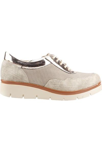 Teceras St500 Bej Bağcıklı Günlük Kadın Spor Ayakkabı