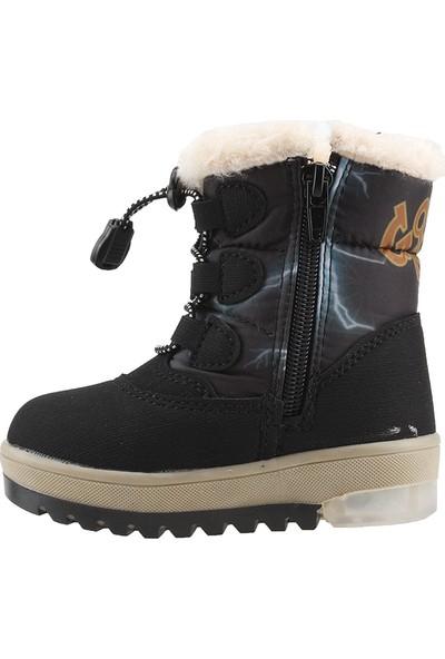 Twingo 9018 Siyah Termal Fermuarlı Işıklı Kız Çocuk Bot Ayakkabı