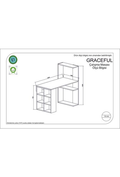 Rafline Graceful Çalışma Masası Turkuaz