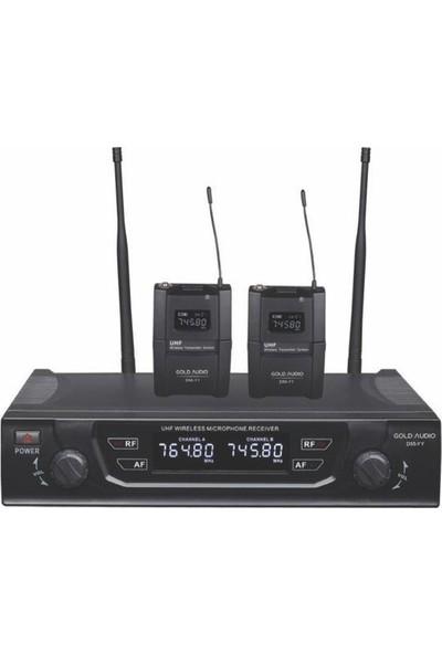 Gold Audio D55Yy Uhf Telsiz Kablosuz Yaka Mikrofon