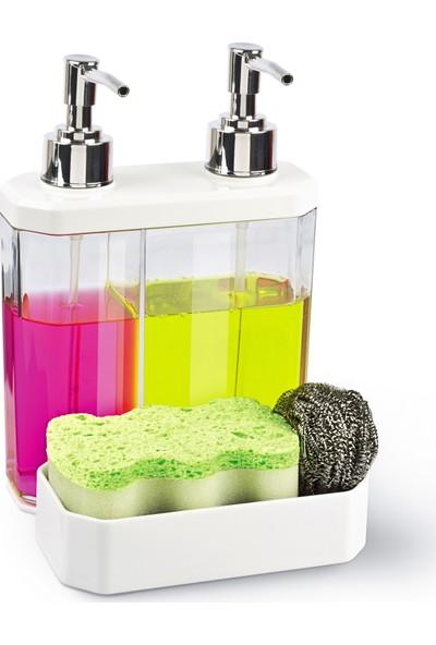 Twin İkili Sıvı Sabunluk Ve Süngerlik 3İn1 New Product