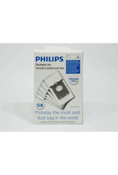 Philips s-bag FC8021/03 Elektrikli Süpürge Torbası - 5 Adet Yeni Kutu