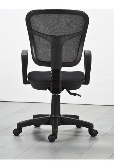 Tetpa Fileli Ofis Koltuğu Bilgisayar Koltuğu Şef Koltuğu Çalışma Koltuğu Siyah