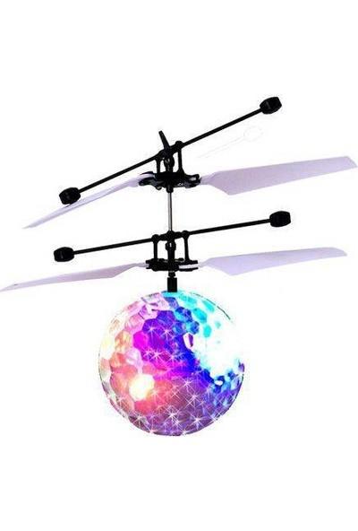 Gepettoys Drone El Sensörlü Uçan Top Drone Renki Işıklı Uçan Top Helikopter Sensörlü Şarjlı