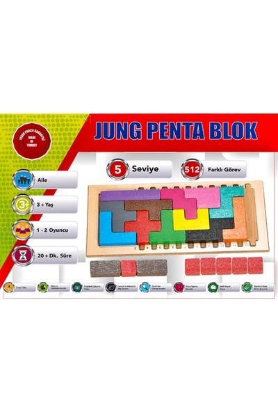 Jung Toys Penta Blok Akıl Ve Zeka Geliştirici Ahşap Oyunu