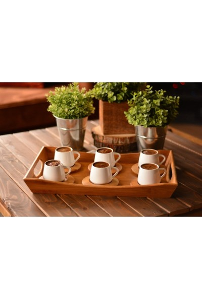 Bambum Lilach - 6 Kişilik Kahve Fincan Takimi B0244