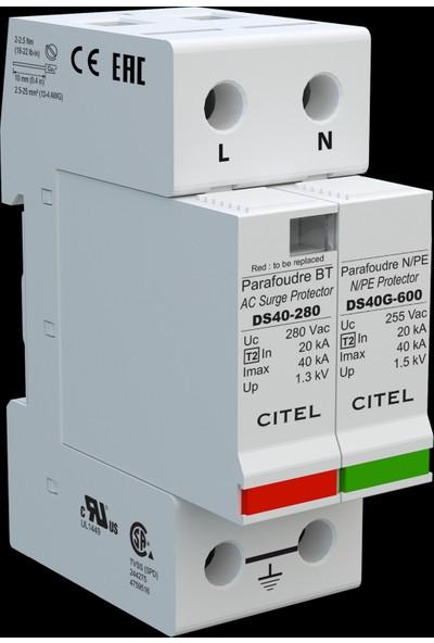 Cıtel C Sınıfı 40Ka 1Faz+Nötr Alarm Kontaklı Parafudr
