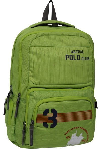 Polo Club Astral Fıstık Yeşil Okul Sırt Çantası