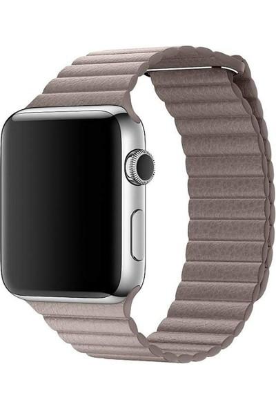 Apple Watch 42mm Duman Grisi Deri Kordon - MNKY2ZM/A