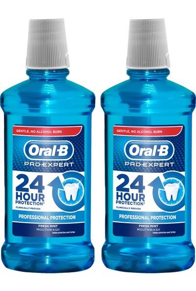 Oral-B Pro-Expert Ağız Çalkalama Suyu Profesyonel Koruma 2 x 500 ml (Alkolsüz)
