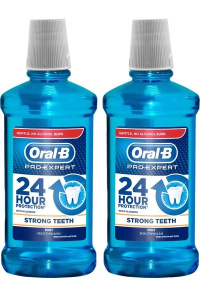 Oral-B Pro-Expert Ağız Çalkalama Suyu Güçlü Dişler 2 x 500 ml (Alkolsüz)