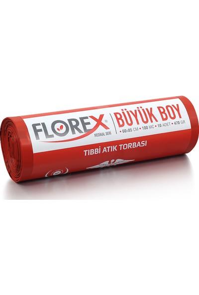 Florex Büyük Boy Tıbbi Atık Çöp Poşeti 60 x 85 Cm