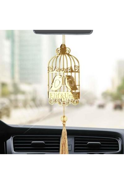 Olur O Zaman Kişiye Özel Kuş Kafesli Pleksi Araba Dikiz Aynası Süsü