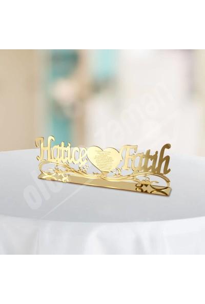 Olur O Zaman Kişiye Özel Desenli Pleksi İsimlik (Düğün-Nişan-Söz-Kına-Ev-Ofis)