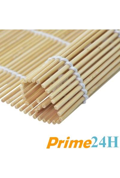 Organik Bambu Suşi Yapma Matı - Makisushi Roll Mat - 100% Doğal - 24x24 cm
