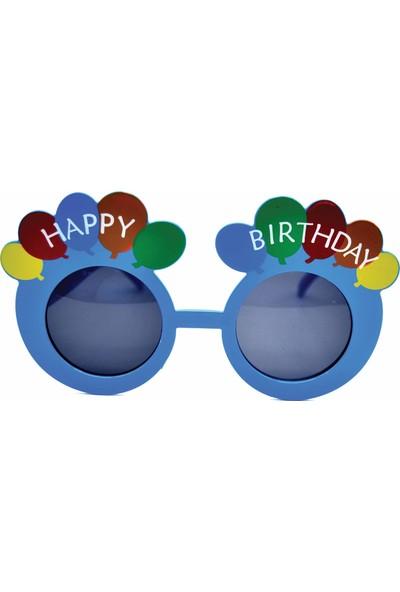Can Happy Birthday Yazılı Parti Gözlüğü Mavi (15cm*8cm)
