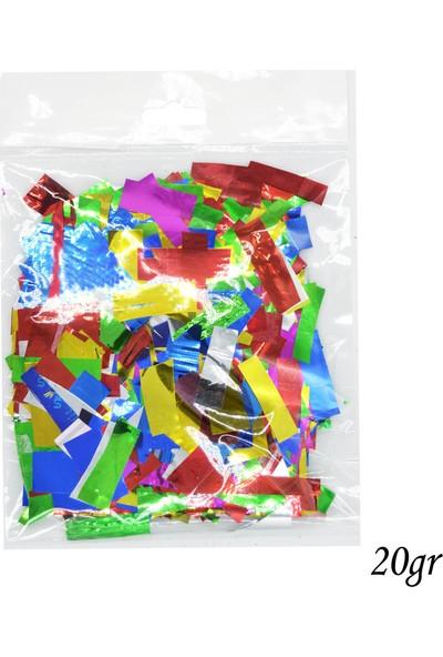 Can Renkli Metalize Konfeti Parçaları 20gr