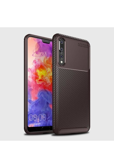 Mueral Huawei P20 PRO Mueral Karbon Negro Silikon Arka Kılıf