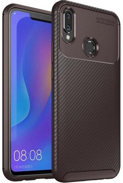 Mueral Huawei Honor Play Mueral Karbon Negro Silikon Arka Kılıf