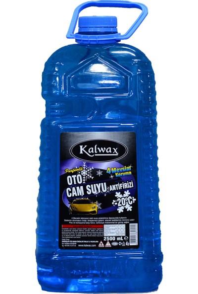 Kalwax Kışlık Cam Suyu Antifrizi 2,5 lt. 8 Adet -20 °C Parfümlü