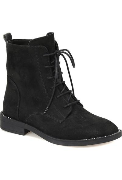 Butigo 18K-509 Siyah Kadın Basic Dress