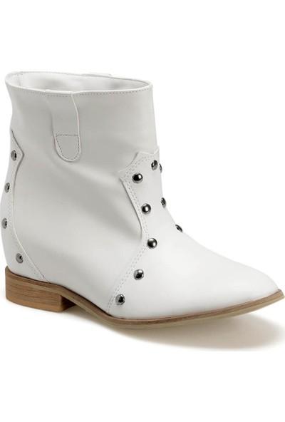 Butigo Hansel01Z Cilt Beyaz Kadın Bot