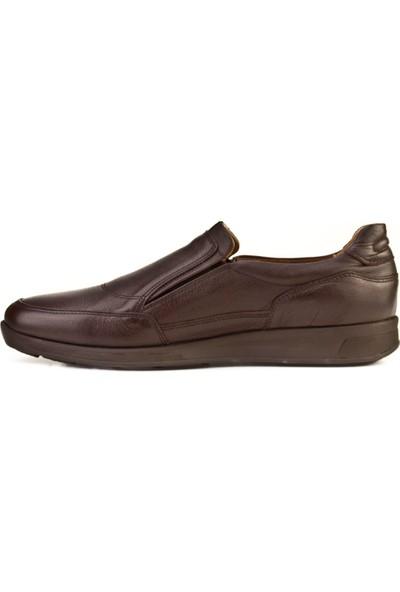 Cabani Bağcıksız Günlük Erkek Ayakkabı Kahve Flap Deri
