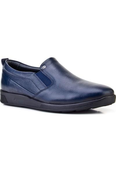 Cabani Bağcıksız Günlük Erkek Ayakkabı Lacivert Deri