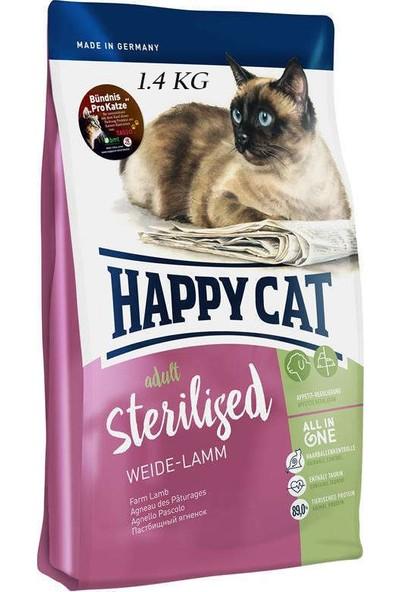 Happy Cat Sterilized Lamm Kısırlaştırılmış Yetişkin Kedi Kuzulu Superpremium Mama 1,4 kg
