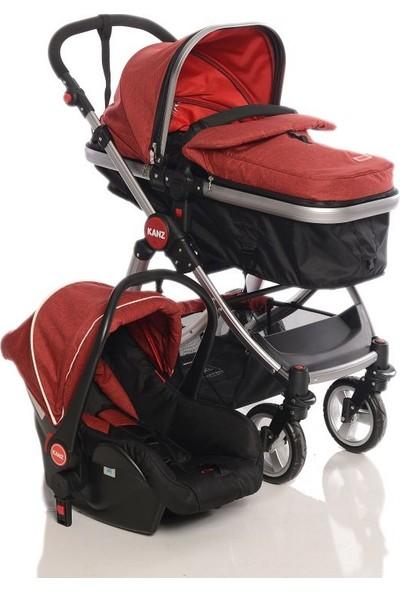 Kanz Fernanda Silver Travel Bebek Arabası - Kırmızı