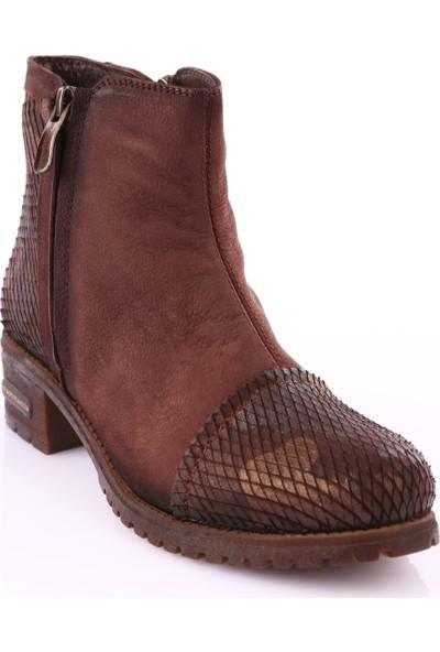 Mamma Mia D18Kb-1575 Kadın Ayakkabı Bot Kahve Nbk/Kahve Kmfj Ksm Nbk