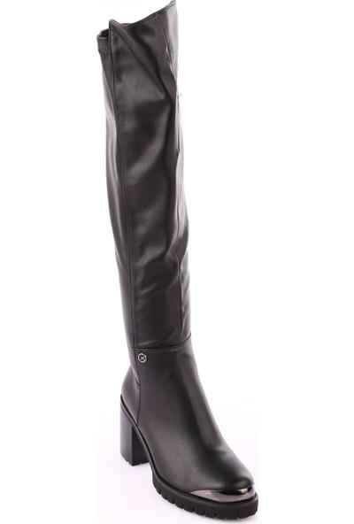 Guja 17K1040-2 Kadın Thing High Topuklu Çorap Çizme Siyah