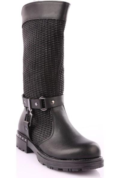 Guja 18K406-4 Kız Çocuk Knee High Çizme Siyah