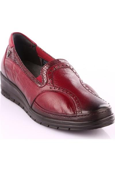 Forelli 25109 Kadın Casual Ayakkabı Bordo