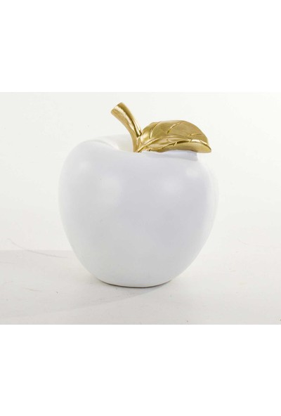 Piyop Beyaz Elma Dekor 16X19 Cm