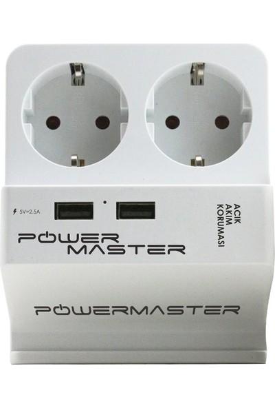 Powermaster 2 Usb Girişli 2 Li Akım Korumalı Priz