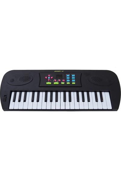 Bircan Mikrofonlu 37 Tuşlu Org Çocuk Piyano Led Ekran