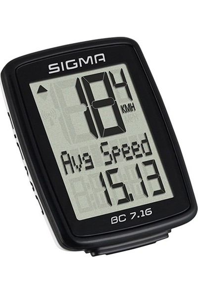 Sigma Km Saati BC 7.16 Kablolu Siyah