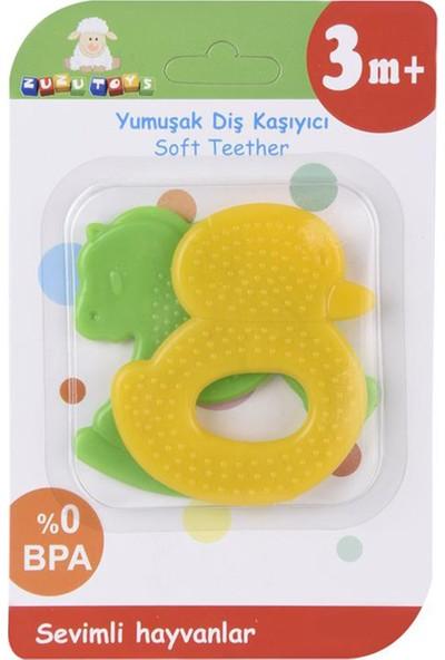 Zuzu Toys Sevimli Hayvanlar Diş Kaşıyıcı 2'li