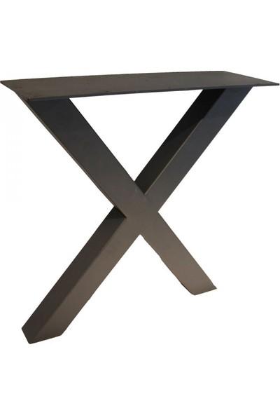 Szn Wood Polo Masa Ayağı X 80X80Mm Profil 70 Cm Siyah Tek