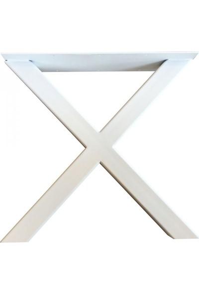 Szn Wood Etna Masa Ayağı X 80X40Mm Profil 70 Cm Beyaz Tek
