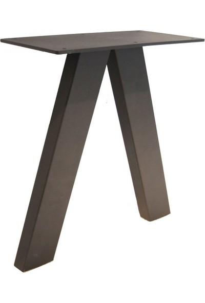 Szn Wood Vava Bank Ayağı V Küçük Siyah Tek