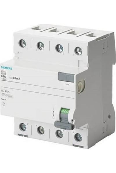 Siemens 5Sv4347-0 - 3X80A 30Ma Kaçak Akım Rölesi - 70Mm