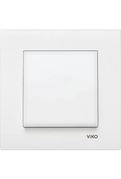 Viko 90967001 - Karre Anahtar Beyaz Çerçeveli