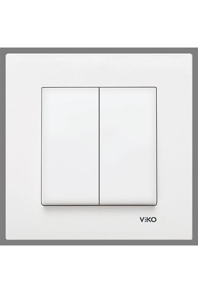 Viko 90967044 - Karre İkili Anahtar Beyaz Çerçeveli