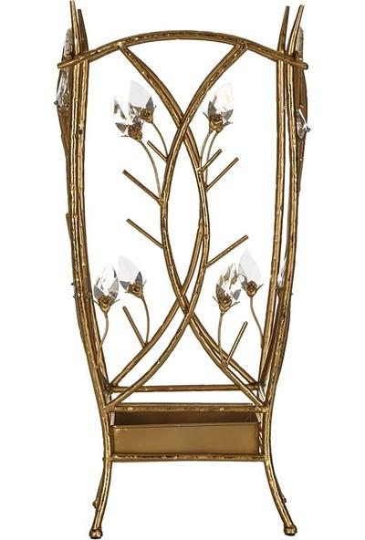 Vitale Gold Kristal Dekoratif Şemşiyelik